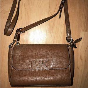 Michael Kors brown leather crossbody purse